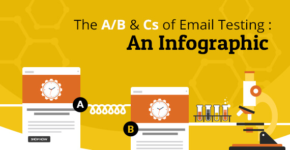 email testing infographic vector