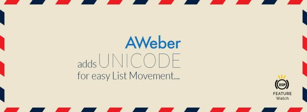 AWeber - ESP Feature Watch