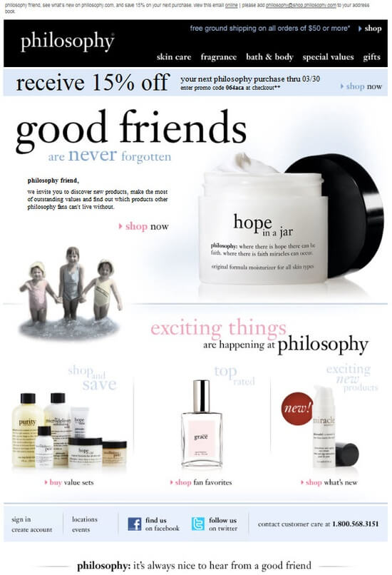 Philosophy re-engagement email