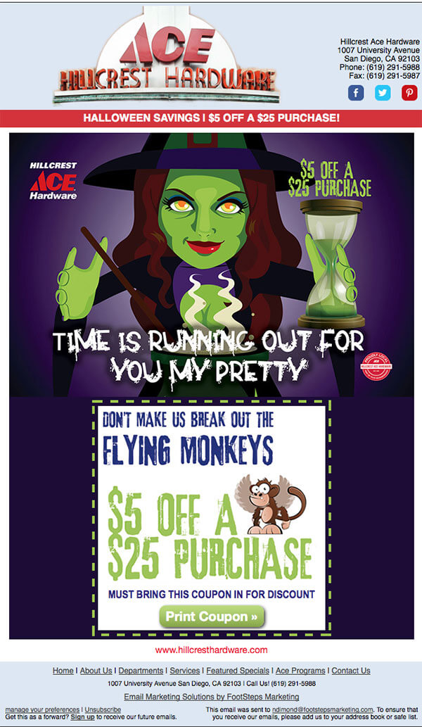 Email design inspirations- Ace Hardware