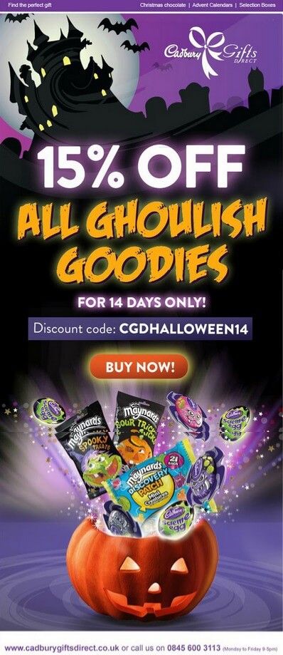 Email design inspirations- Cadbury