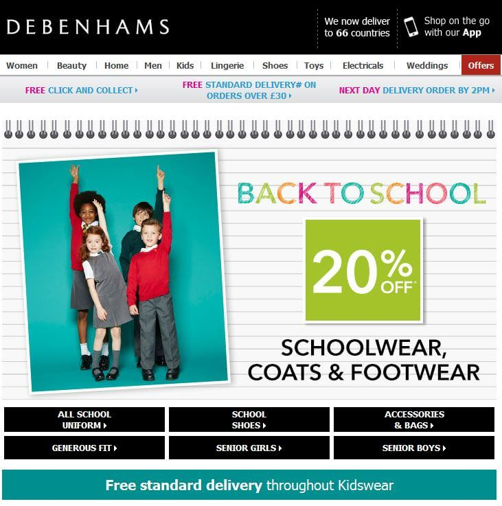 Debenhams-School 1