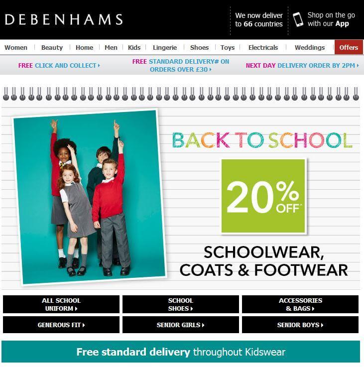 Debenhams-School 1