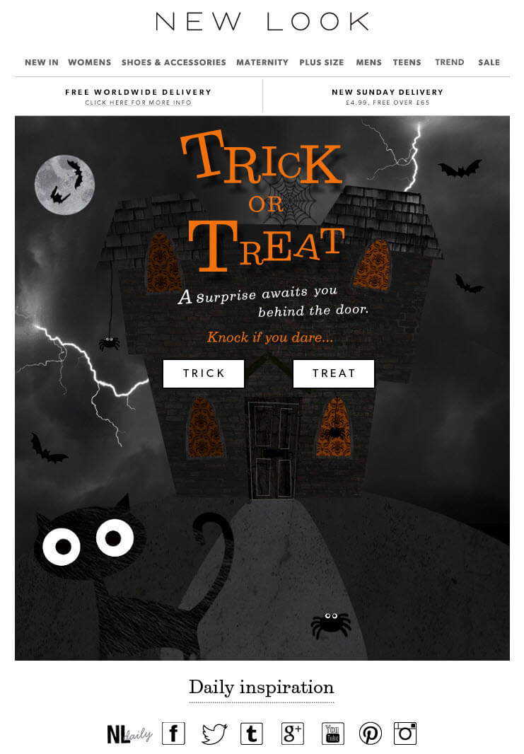 Halloween email design- New Look
