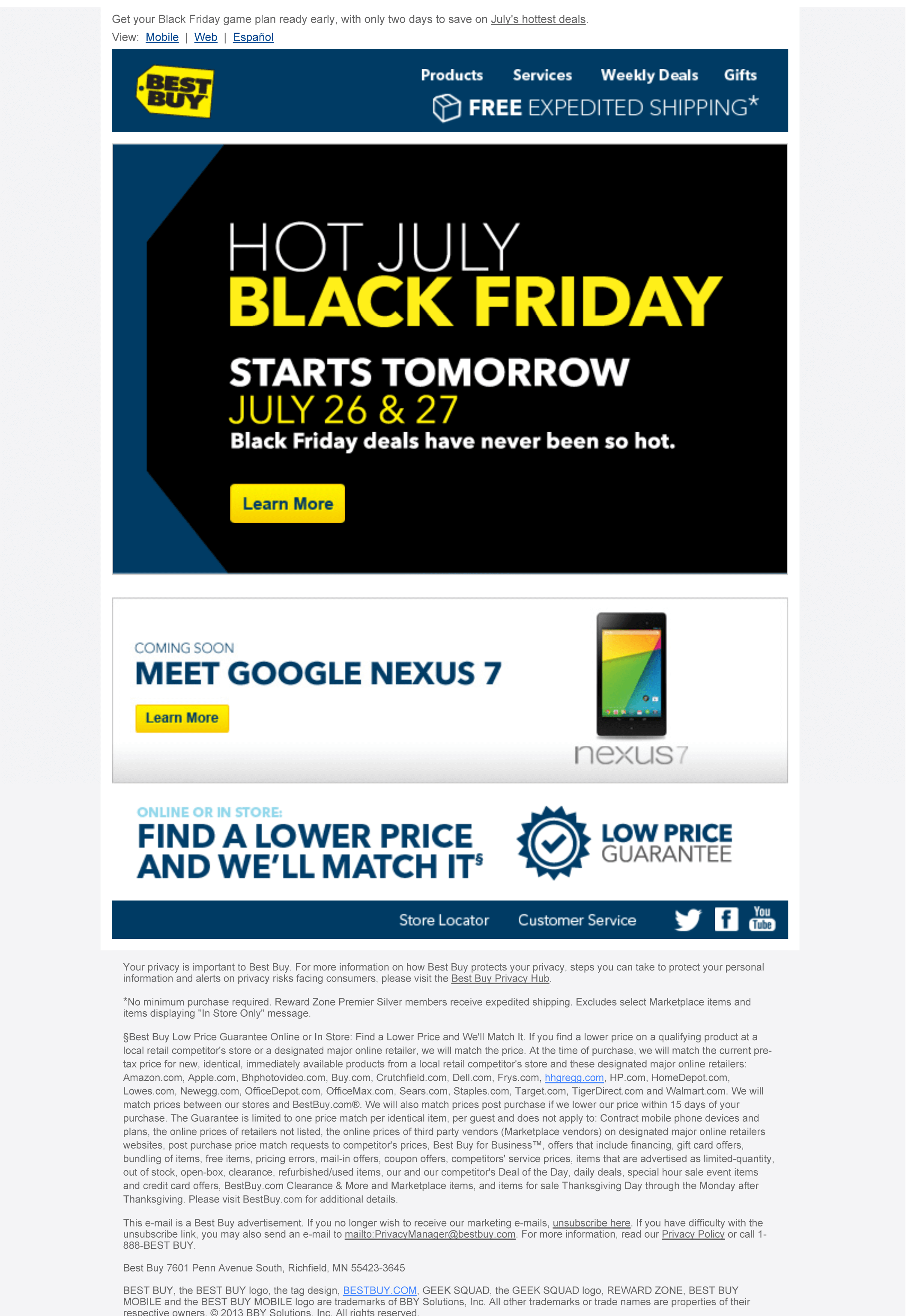 Best Buy - Black Friday