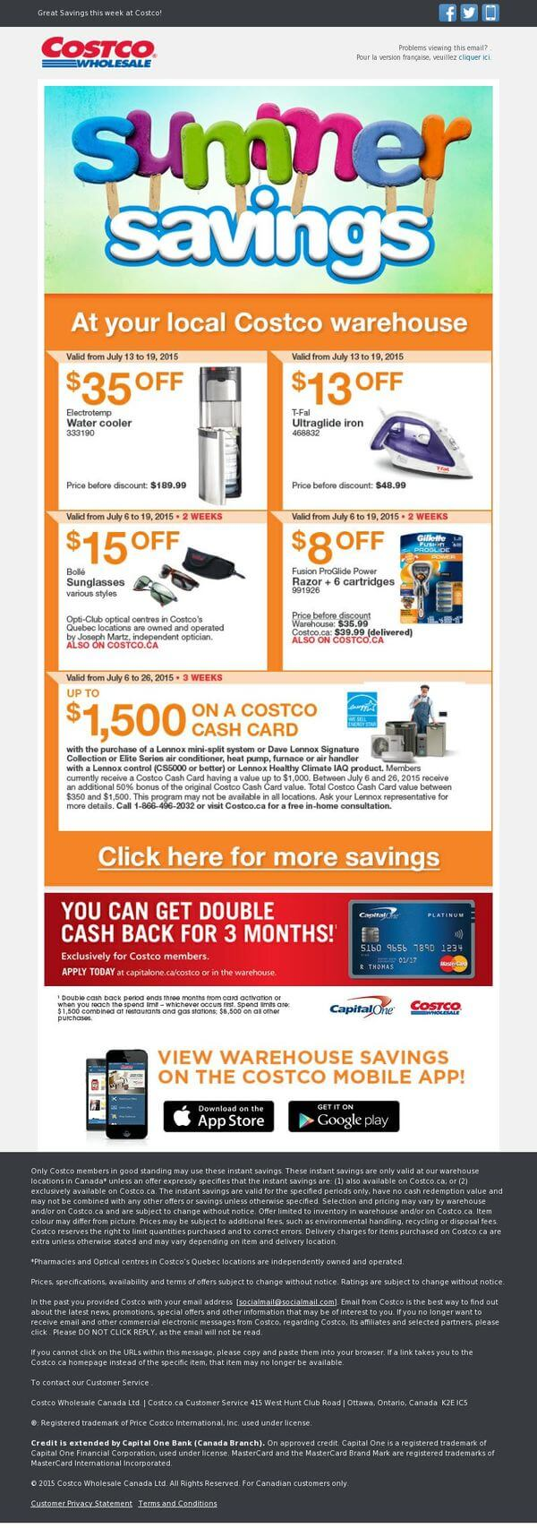 Email design inspiration- Costco