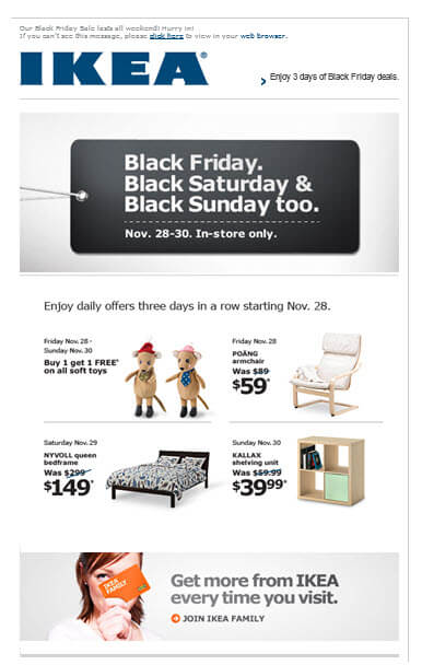 Top 20 Black Friday Cyber Monday Email Inspirations