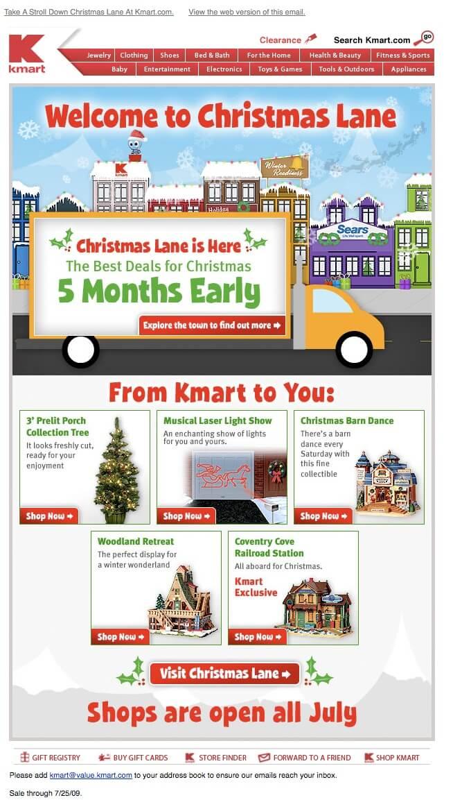 Email inspiration- K Mart