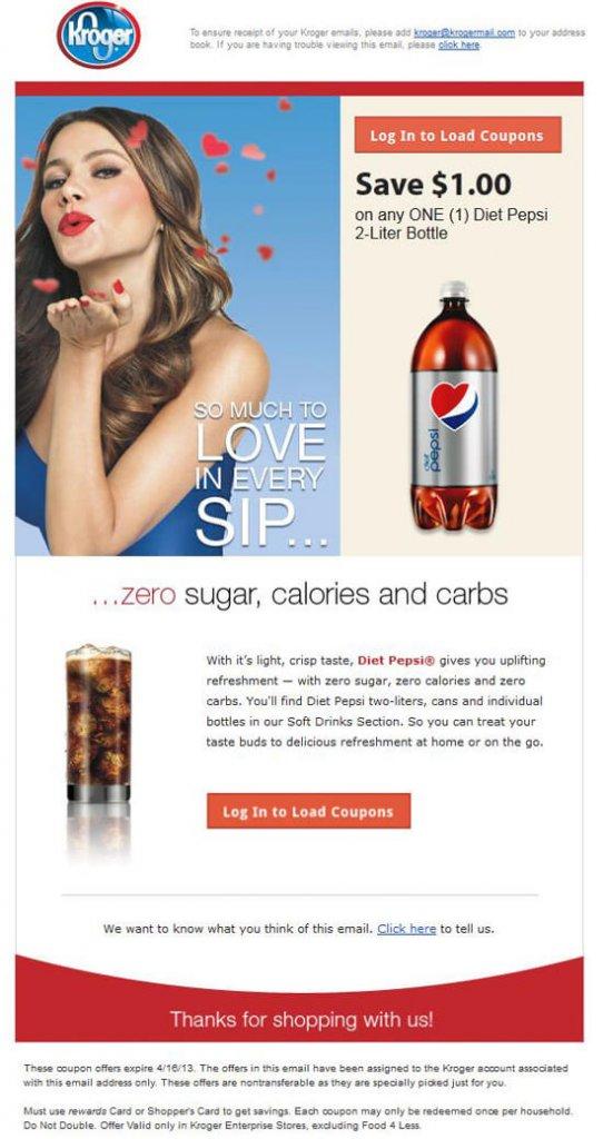 Supermarket email inspiration- Kroger