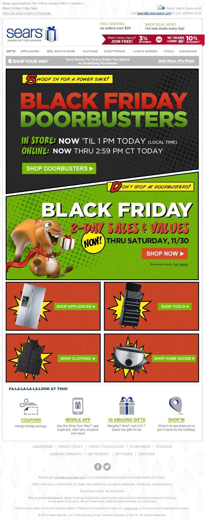 Sears Black Friday