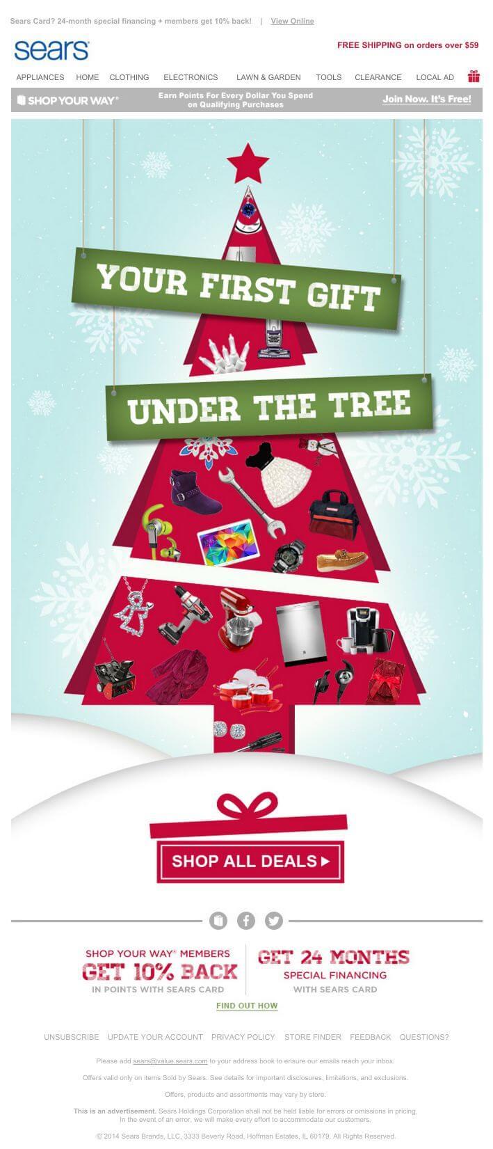 White Christmas Tree Sears