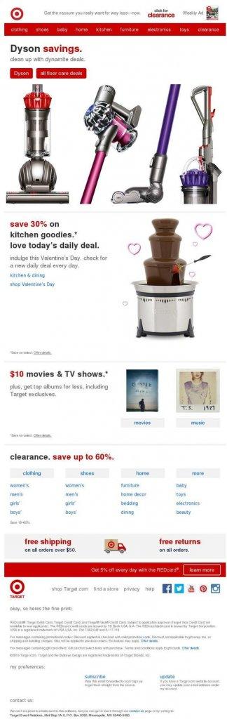 Supermarket email inspiration- Target