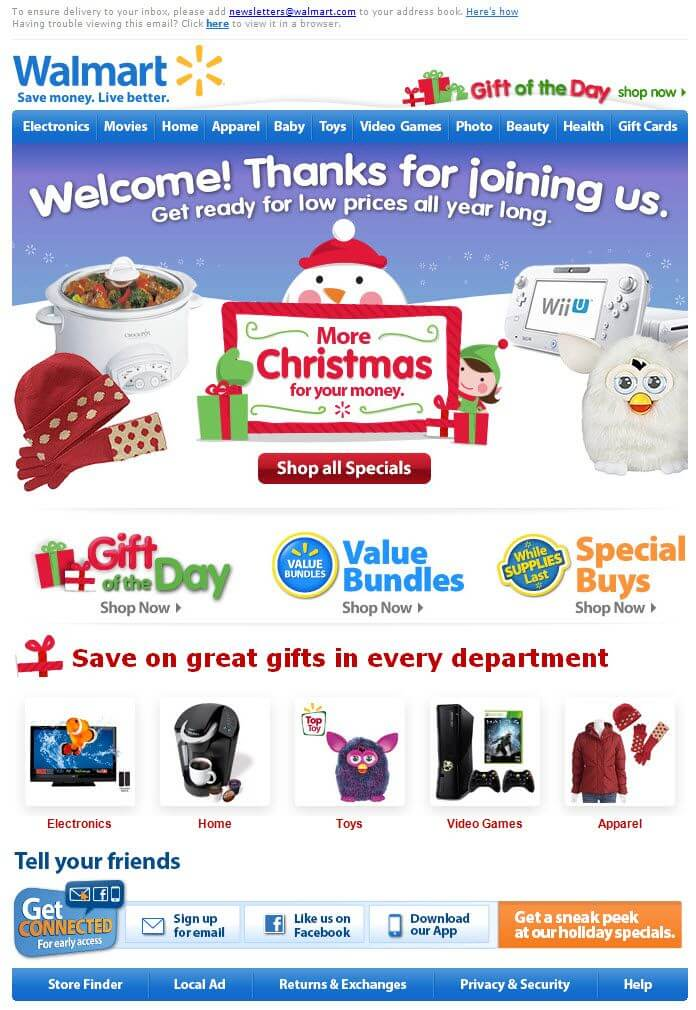 Top 10 Christmas Email Template Examples