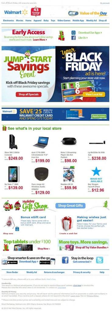 Supermarket email inspiration- Walmart