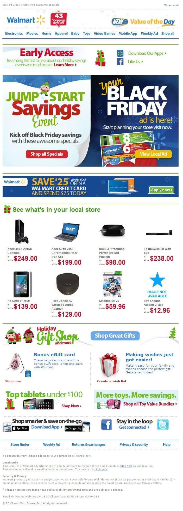 Email inspiration- Walmart