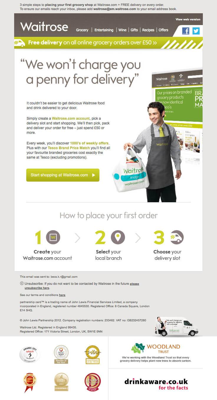 Supermarket email inspiration- Waitrose