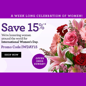 womens day email template example - 1800flowers