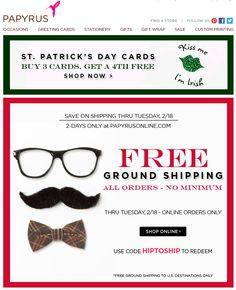 st patricks day email templates - Papyrus