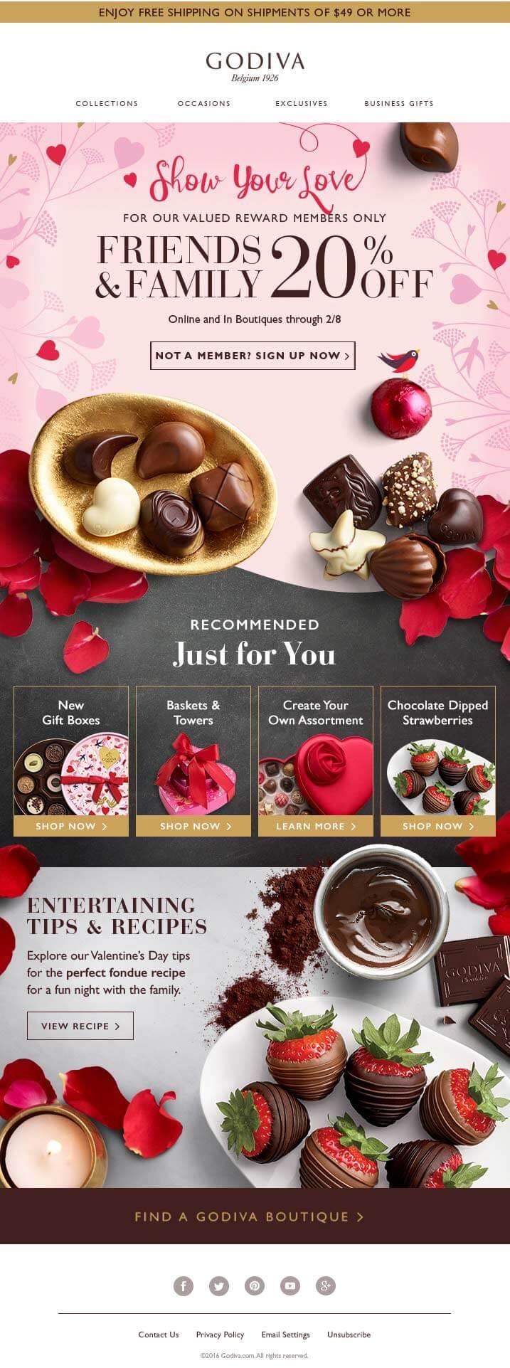 GODIVA-Valentine's Day