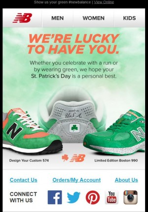 email templates for St Patricks day