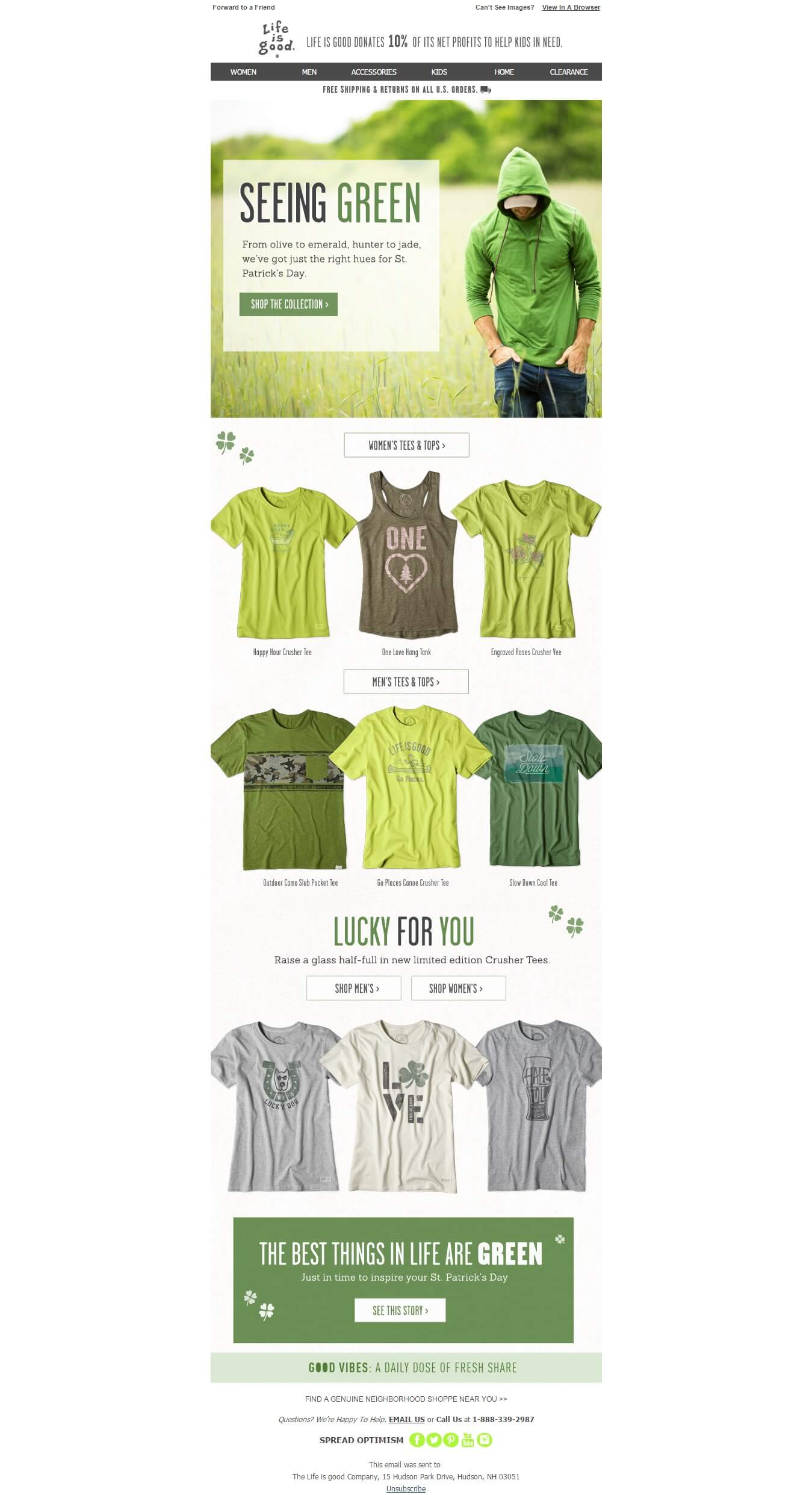 st patricks day email templates