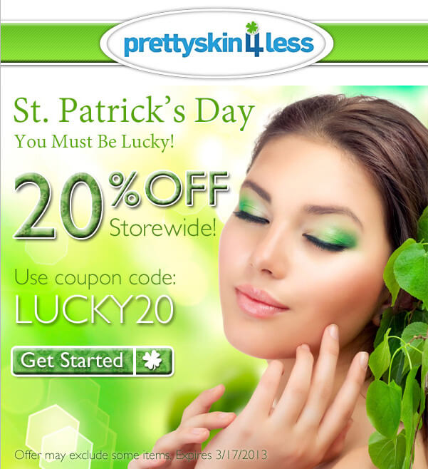 Prettyskin4less - st patricks day email template examples