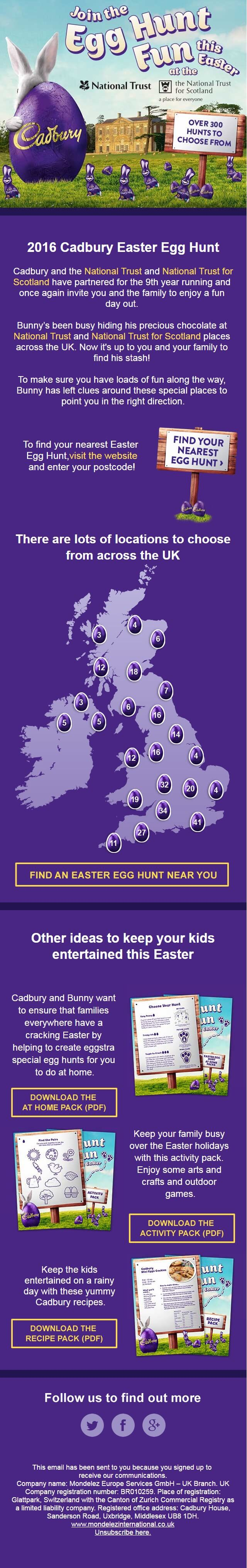 Join the Cadbury Egg hunt fun this Easter