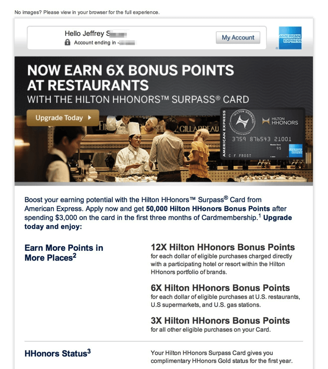 Hilton HHonors Emails