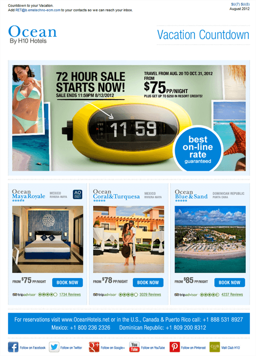 Tiimer Sale by Ocean Hotels