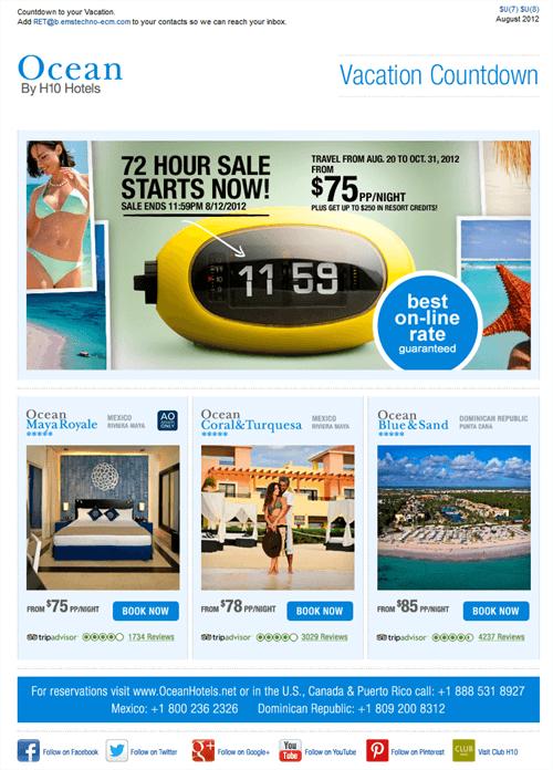 Tiimer Sale by Ocean Hotels