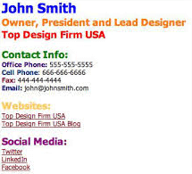 Spammy Email Signature Example