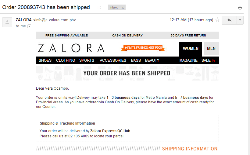fashion emails- Zalora