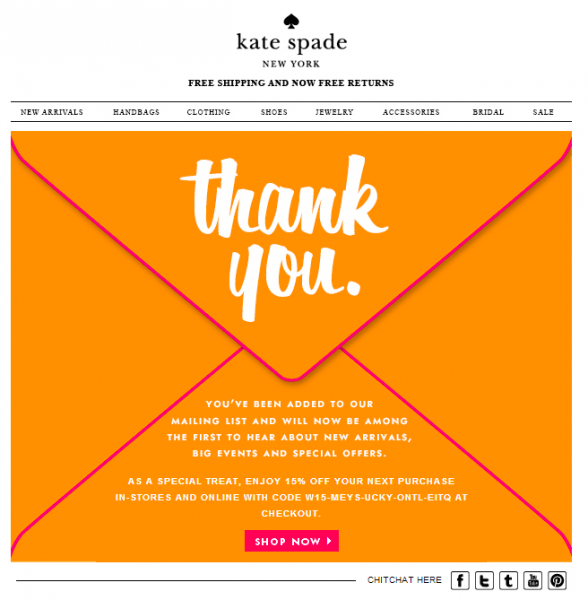 fashion email inspirations- Kate spade