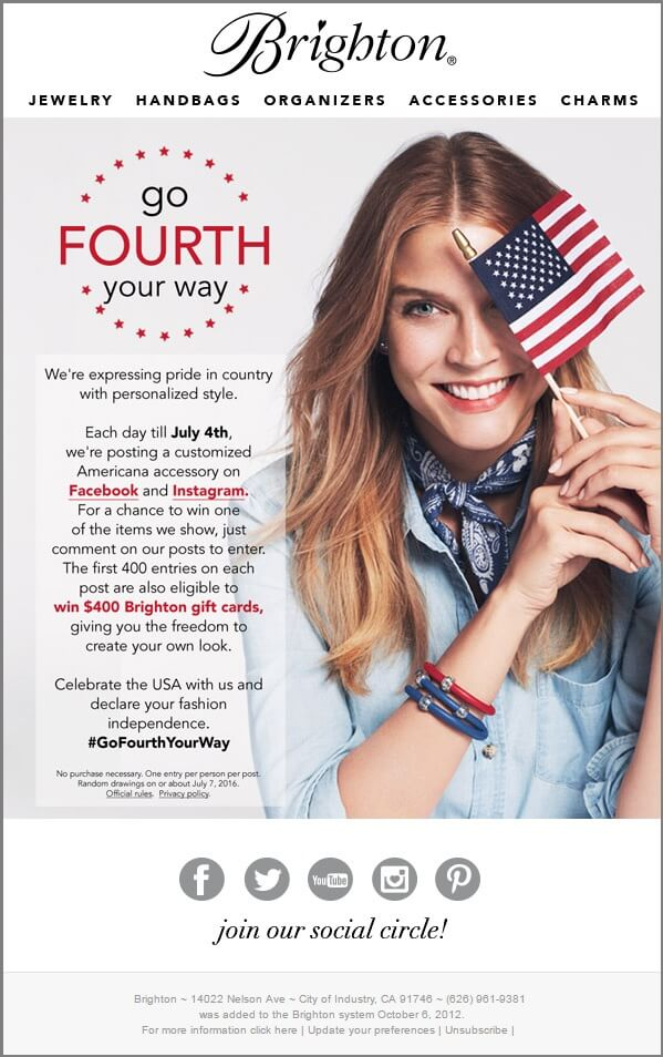 Brighton_4th of july email templates