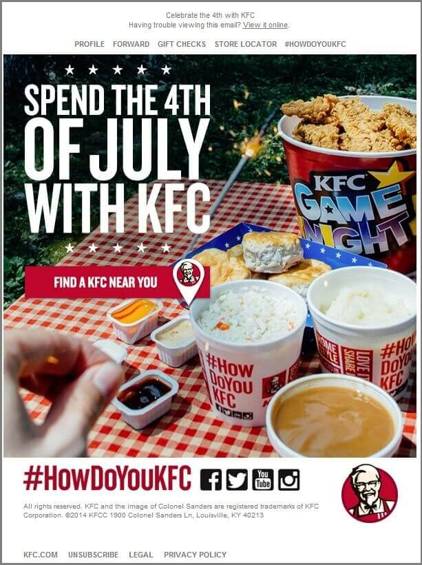KFC_4th of july email templates