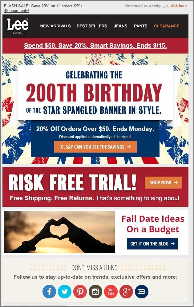 Lee_4th of july email templates