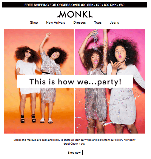 animated gif in email- monki