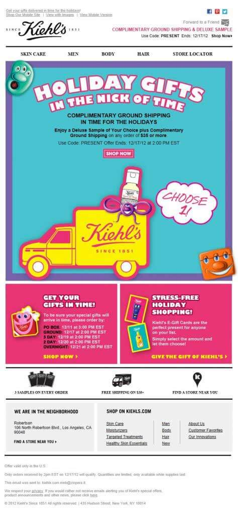 kiehl's-fashion-email