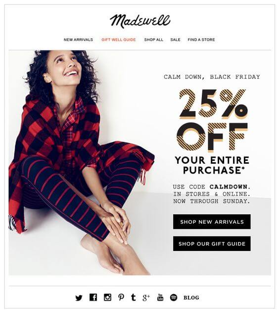 Holiday Email Templates (Black Friday) - Madewell