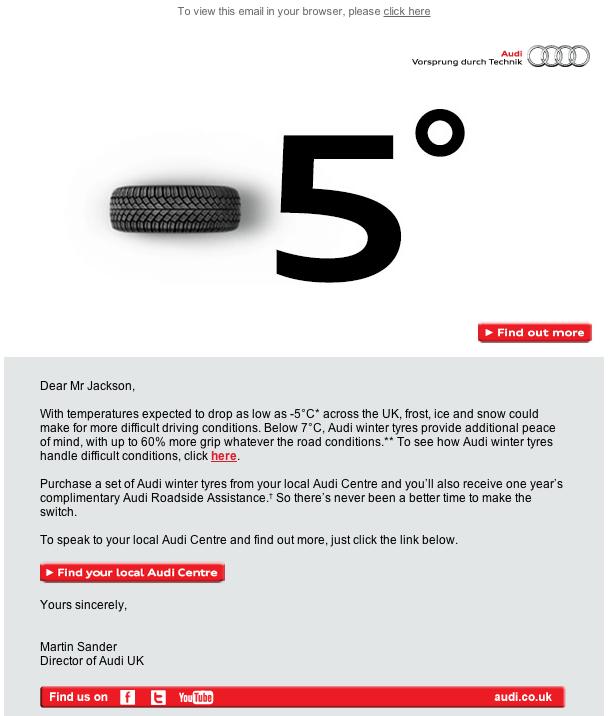 Automotive Email Marketing- Audi