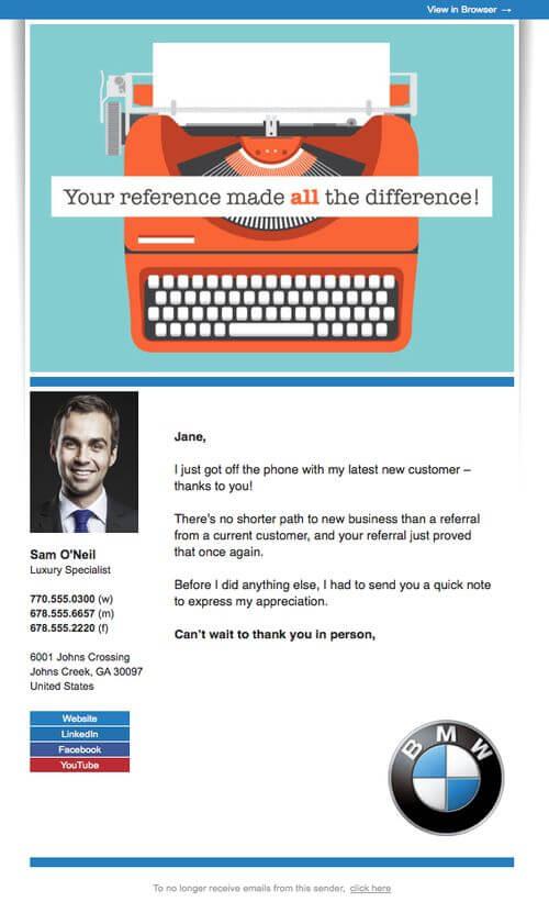 Automotive Email Marketing- BMW