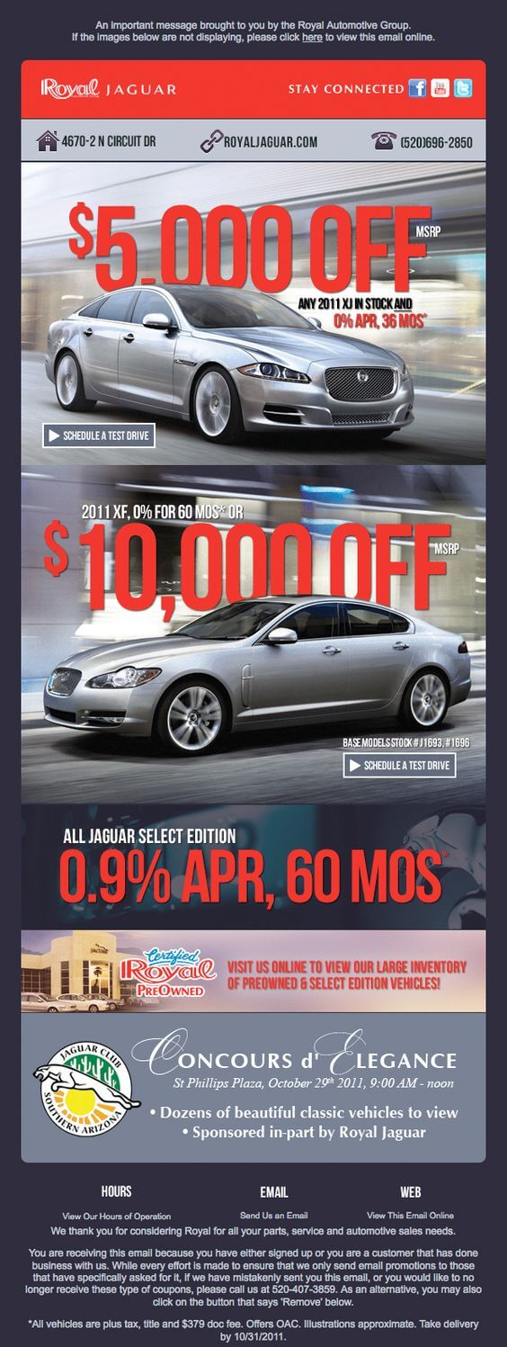 Automotive Email templates- Jaguar