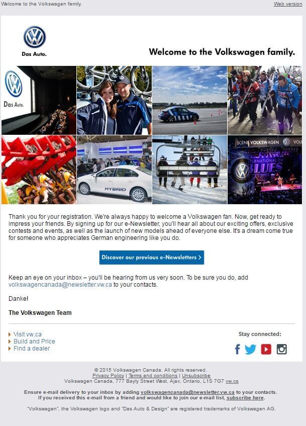 Email design inspiration-Volkswagen