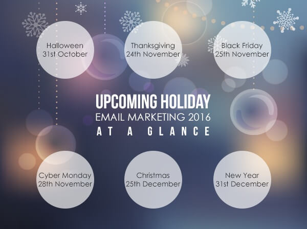 Holiday email marketing calendar 2016