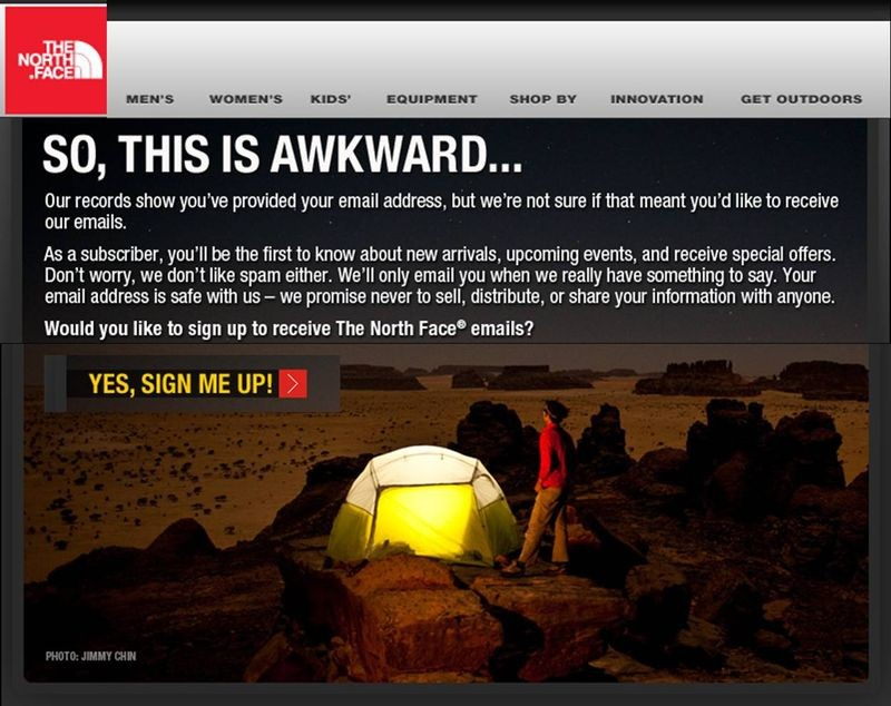 Opt-in-email-marketing-North-face