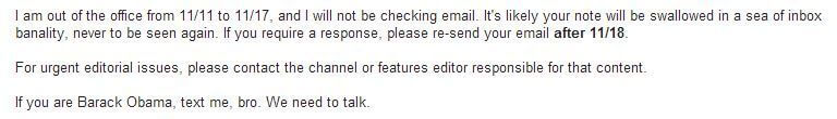 Out of Office Email Footer Humor