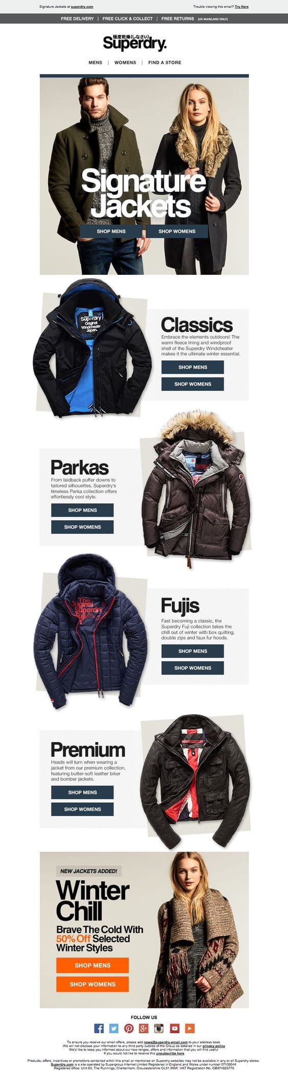 Email Personalization Examples- Superdry Season Email