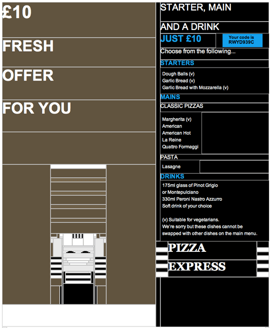 html email pixel art- pizza express