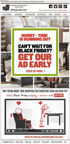 Countdown in Email Examples