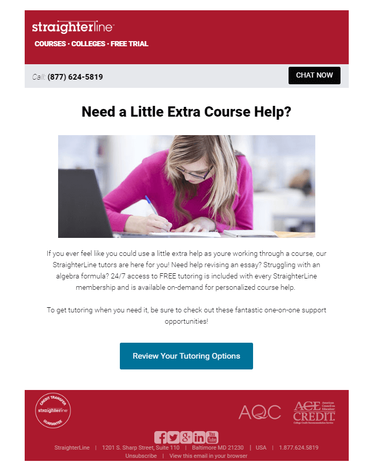 Educational Email- Straighterline